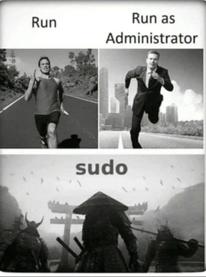 Run Run as Administrator sudo