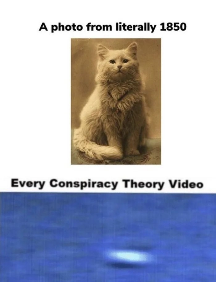 A photo from literally 1850 Every Conspiracy Theory Video
