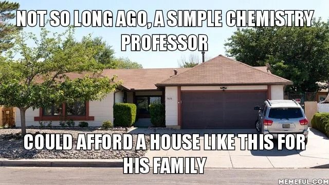 NOT SO LONGAG0, ASIMPLE CHEMISTRY PROFESSOR COULD AFFORD A HOUSE LIKE THIS FOR HIS FAMILY MEMEEUL.COM