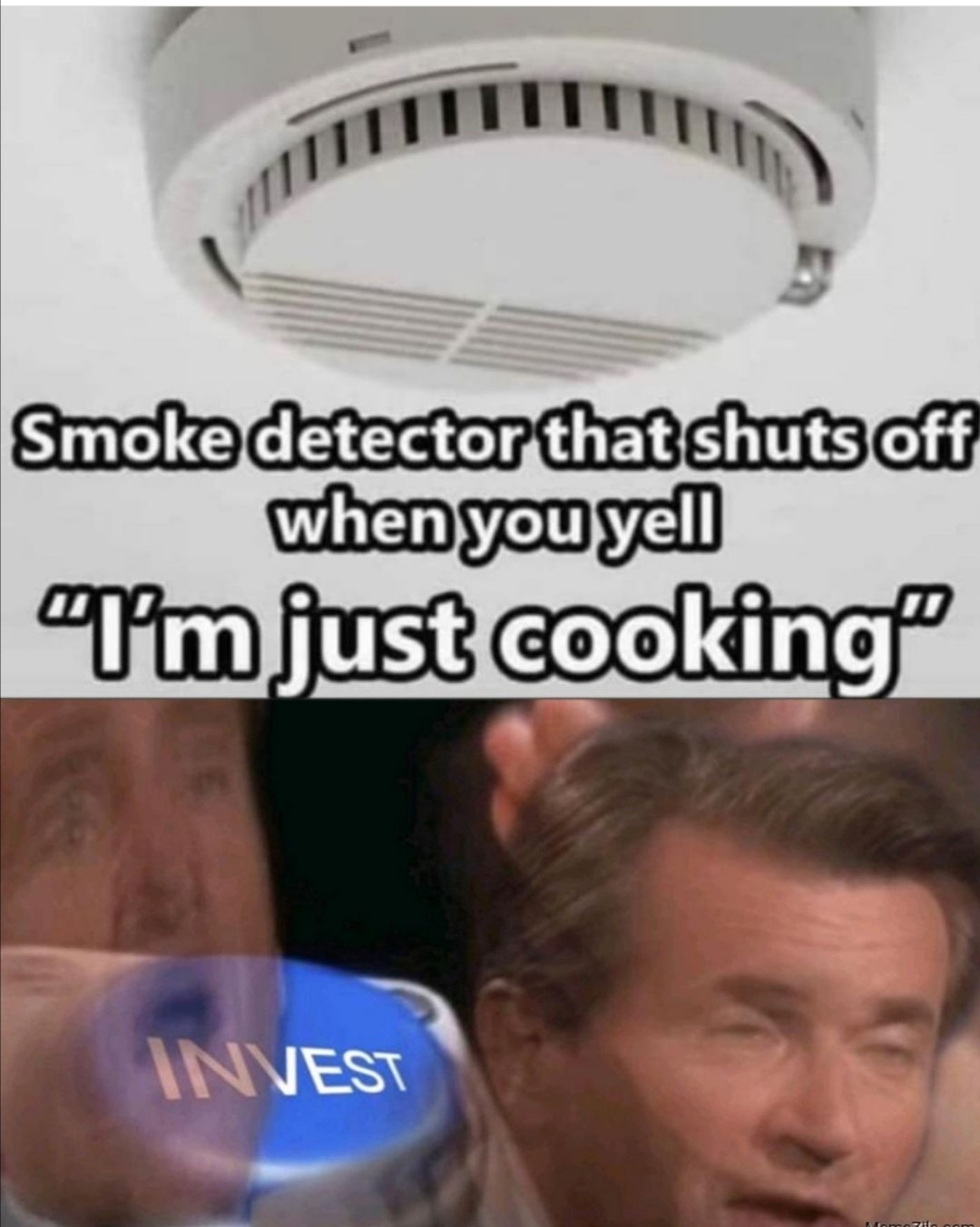 Smoke detector that shuts off when you yell T'm just cooking
