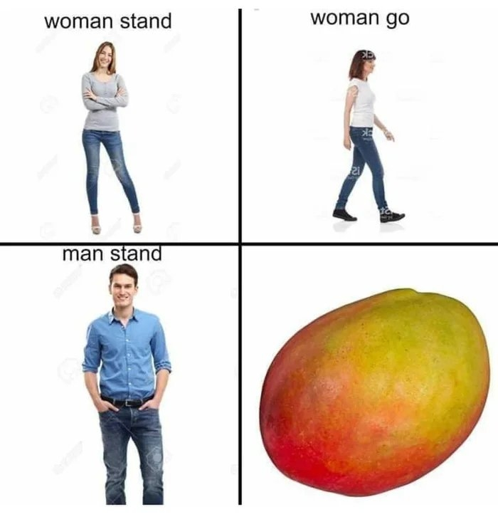 woman stand woman go 2i man stand