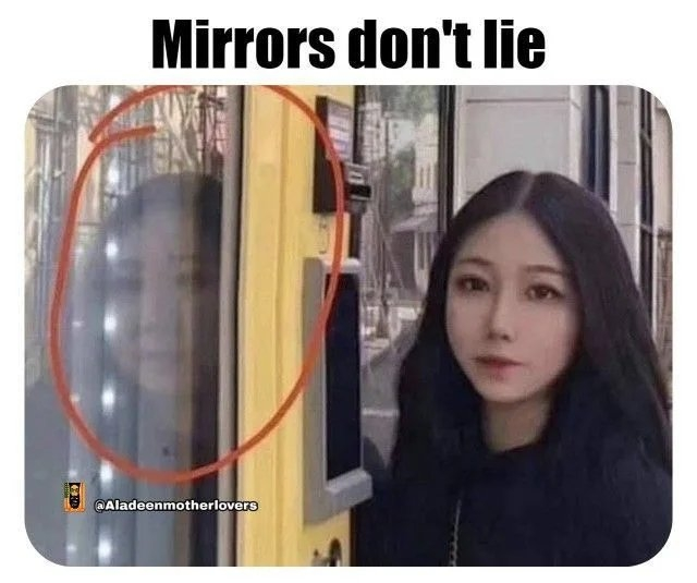 Mirrors don't lie @Aladeenmotherlovers
